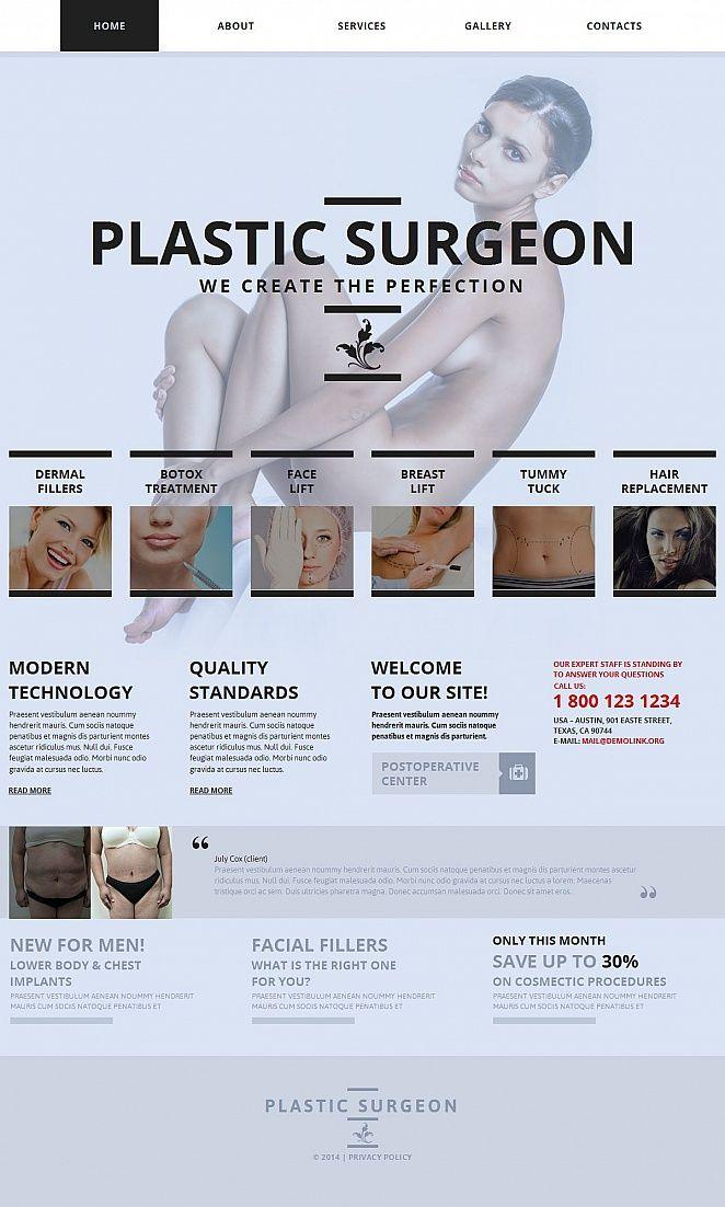 Plastic Surgery Medical #MotoCMS #HTML5 #ZendOptimizer Template #49182