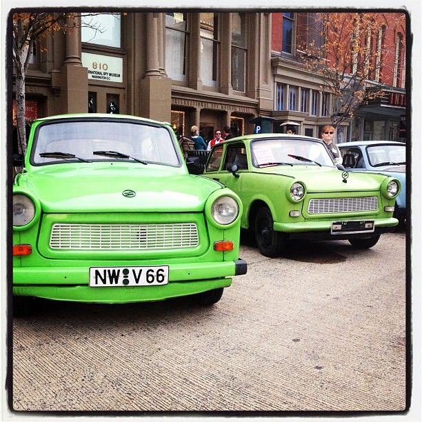 Kermit-colored Trabant.