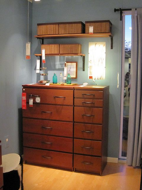 IKEA Malm Dresser and 6 drawer chest--I like how they are put together to make one big piece.