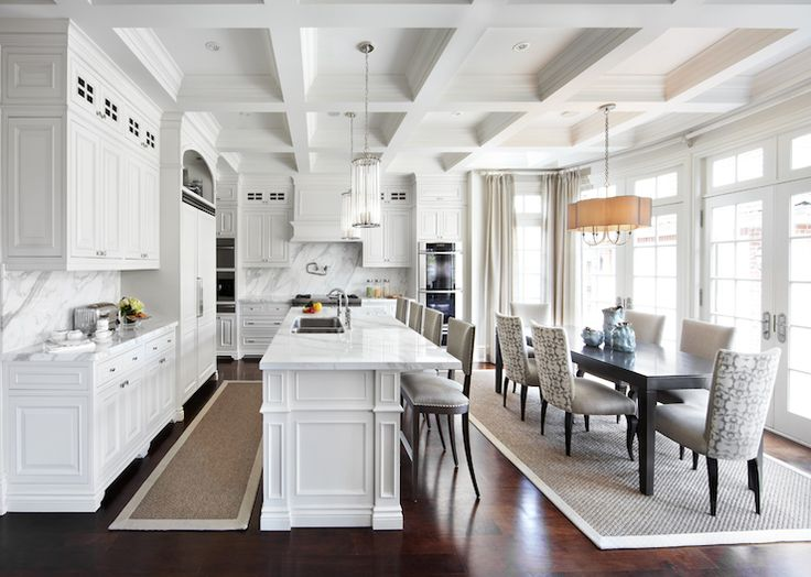 Elegant While Maybe Not Quite On The Scale Of Grayson Manor, This Kitchen And  Adjoining Dining Area Designed By Laura Hay Are Certainly Light And Elegant  Enough For ...