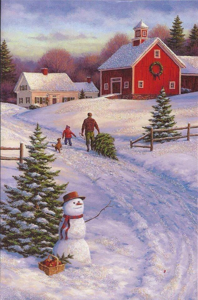 25 best ideas about christmas scenes on pinterest Christmas card scenes to paint