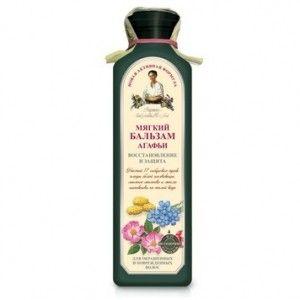 Miękki balsam do włosów Agafii z ekstraktem białej morwy, olejem lnianym i dzikiej róży,