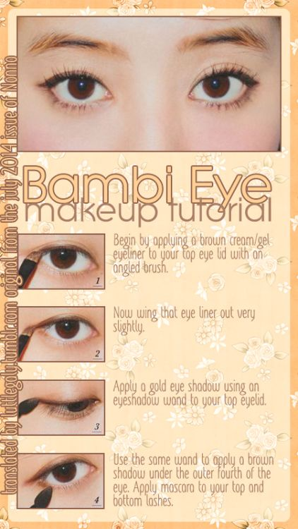 When you don't have that much eyelid surface area to work with, just a small touch of color can define a look. Try this doe-eyed eyeshadow tutorial.