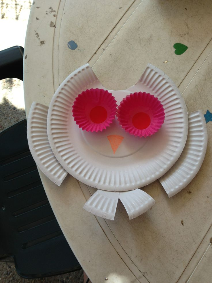 Cut up a paper plate to make an Owl. Use cake patty pans and stickers for eyes. Googly eyes would add extra character. Draw or stick on a beak. Use patterned plates, or draw or stick on feathers to add colour. Punch a whole at the top of the head to hang individually or on both wings to string together with other plate owls to make a garland. Have Fun. DIY Mum