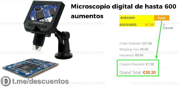 Microscopio digital de hasta 600 aumentos por 30 - http://ift.tt/2oJbmd6