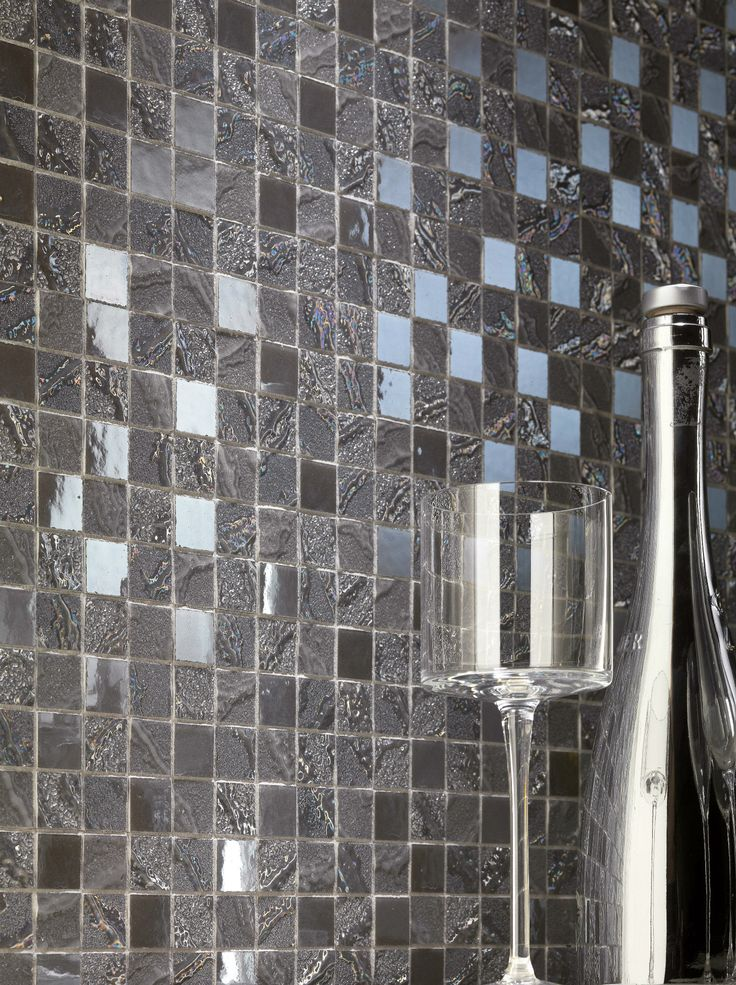Minoli Tiles - Four Seasons, by #Minoli - Wall Tiles: Four Seasons Fog Tiles 30 x 30 cm. - http://www.minoli.co.uk/tiles/mosaic-tile-sheets/ - http://www.thesurfacewithin.co.uk/range/luxury-mosaic-for-bathroom/dark-grey-mosaic-tiles-four-seasons-fog/