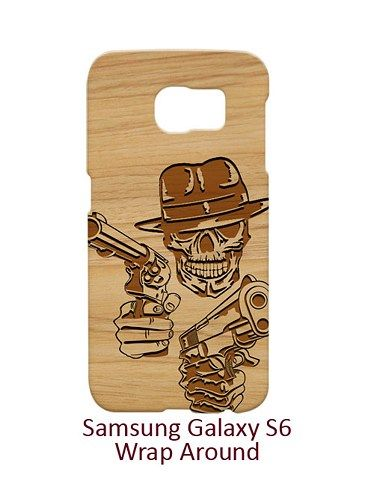 Skull Cowboy 2 Guns Case for Samsung Galaxy S6