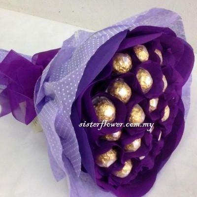 Ferrero Rocher Chocolate - FRC14 - Flower Bouquet MalaysiaFlower ...