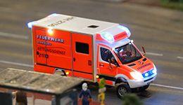 Feuerwehr - Feuerwache 1 - Modellbau Modelleisenbahn Hamburg