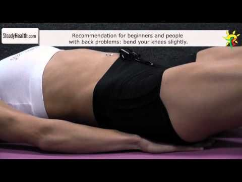 Workout for lower abs: straight leg raise