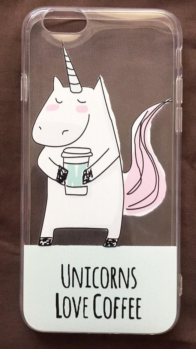 "Who else loves unicorns and coffee 🙋🏽🦄! Get your hands on our ""Unicorns Love Coffee"" iPhone Case while you can! 🙌🏽  #SataraPhone #SataraProof"