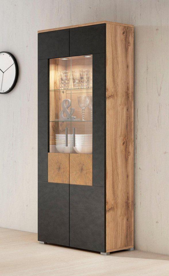 Vitrine Wobona Hohe 180 Cm Mit 2 Turen Modernes Haus Innenarchitektur Modernes Schlafzimmer Design Glasschrank