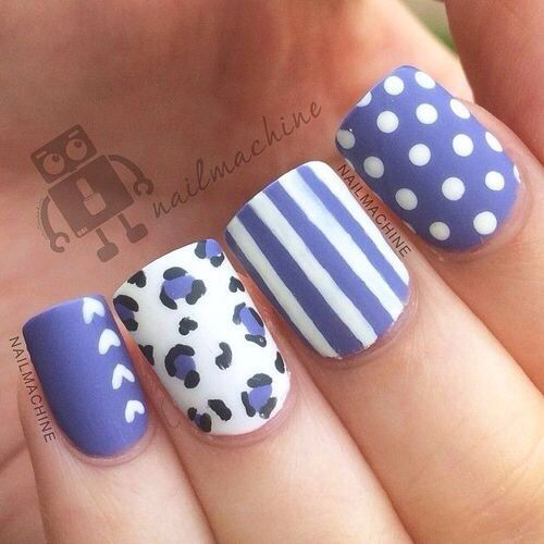 Purple nail art | See more nail designs at http://www.nailsss.com/acrylic-nails-ideas/2/