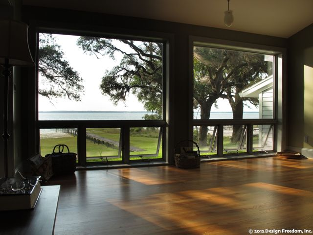 Floor To Ceiling Wall Picture Windows With Operable Awning Below