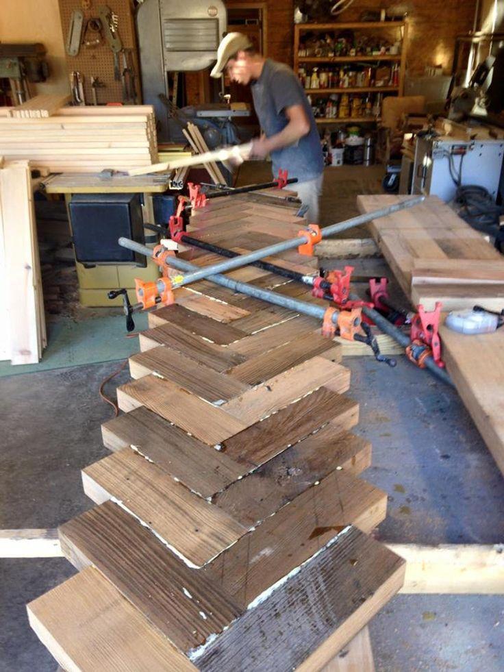 Aufgearbeiteten Holz Tischplatte Holz Tischplatte Bar oben