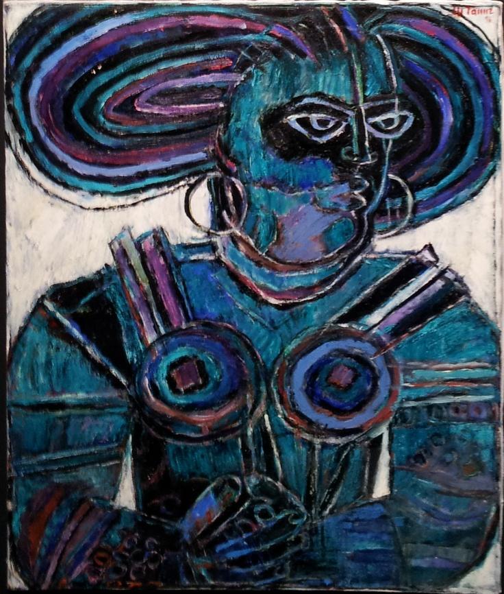 Moshe Tamir - Woman I, oil on canvas