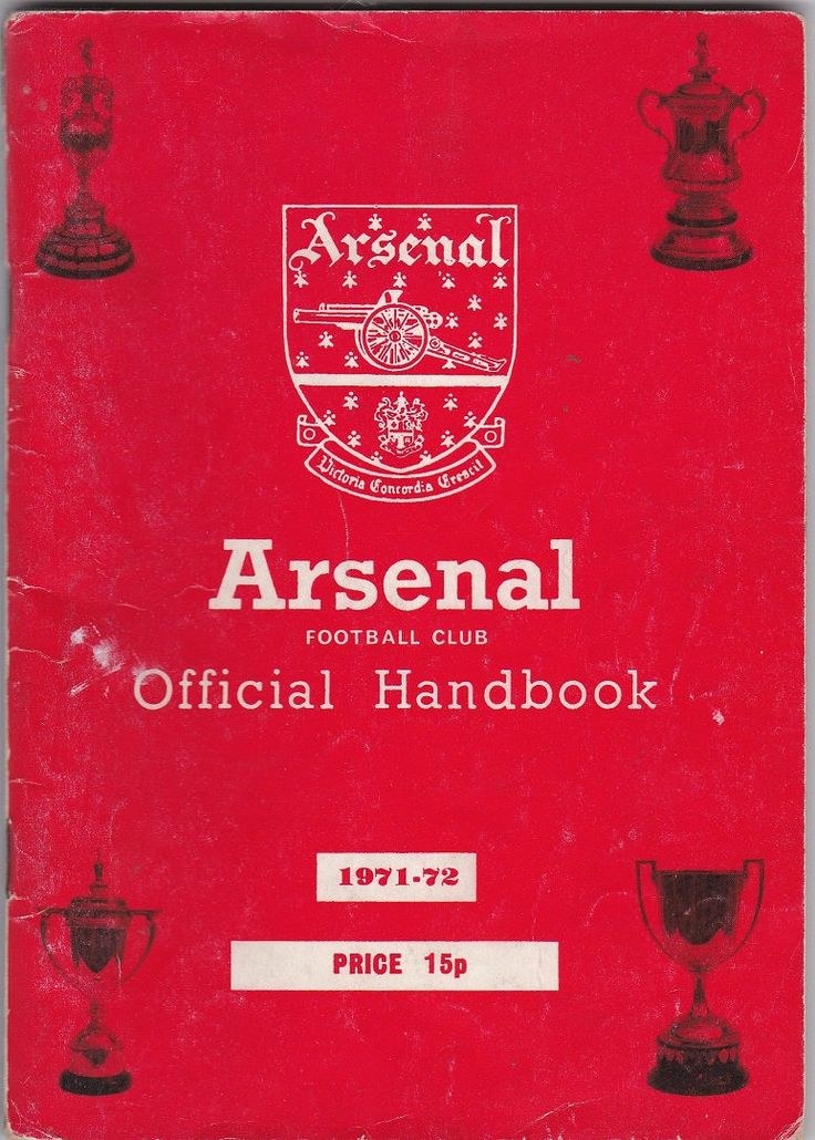 Arsenal Football Club Official Handbook, 1971/72 season #football #soccer #arsenal