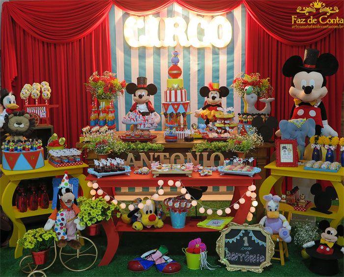 decoração circo do mickey