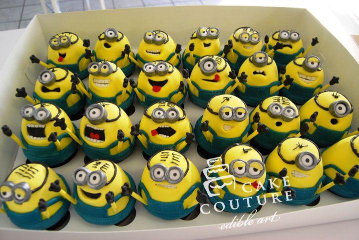 Despicable Me Cupcakes.. adorable! :D @Lauren Mareno