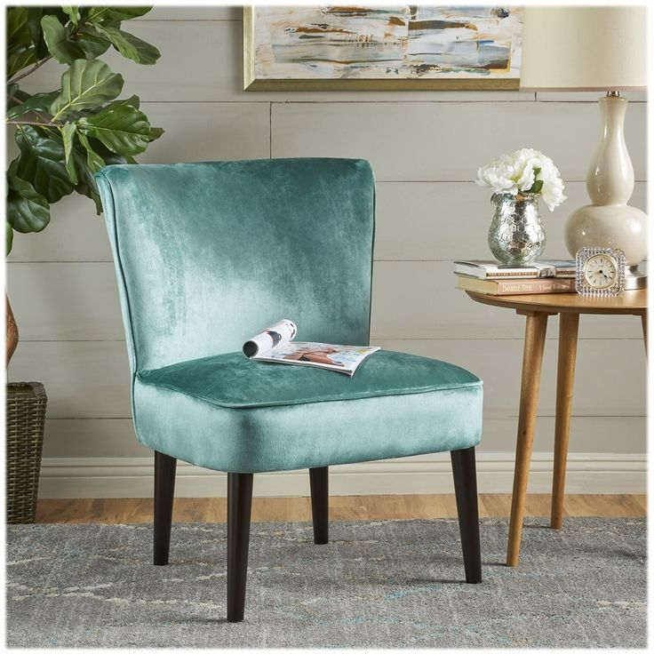 Best Noble House Anniston Accent Chair Turquoise Brown 400 x 300