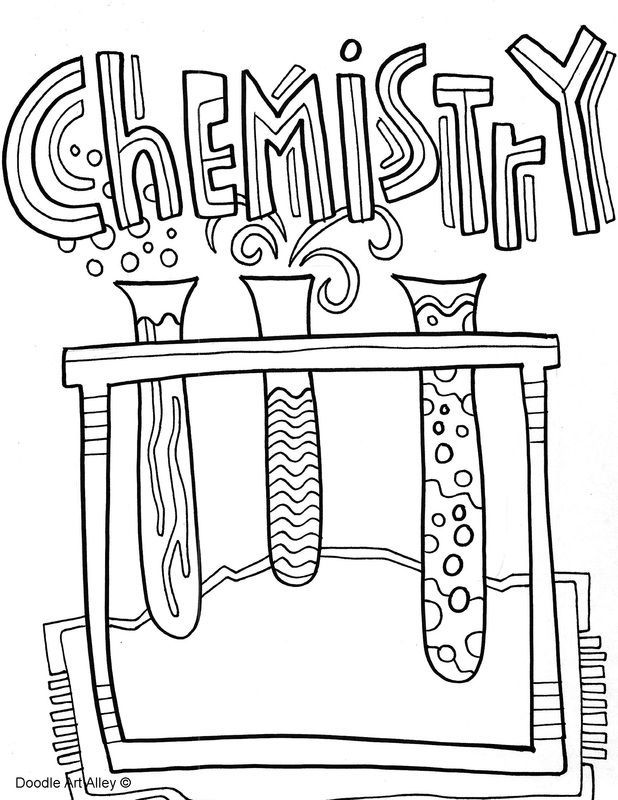 Science Coloring Pages Education Science School Subjects School