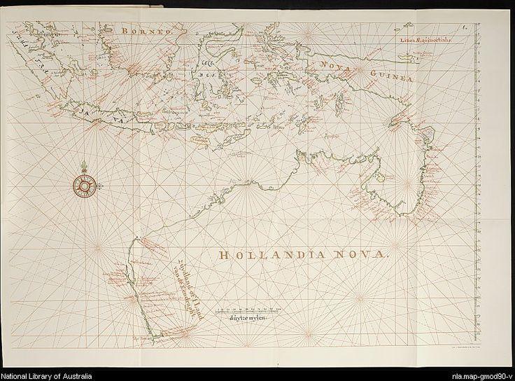 Graaff, Isaac de, 1667-1743. [Uitslaande kaart van den Maleischen Archipel, de Noord- en West-kusten van Australie, 1690-1714] [cartographic material] = [Folding chart of the Malay Archipelago, the North- and West-coast of Australia]