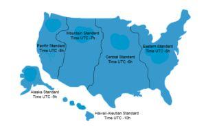Zeitzonen in den USA