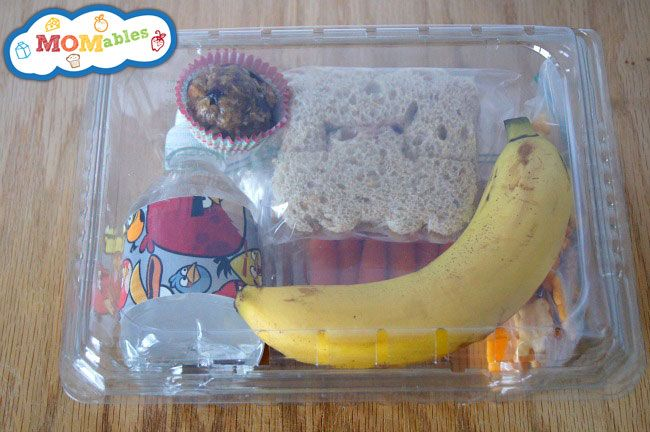 Disposable Field Trip Lunch - save clear plastic clamshells from fruit to put lunches in.