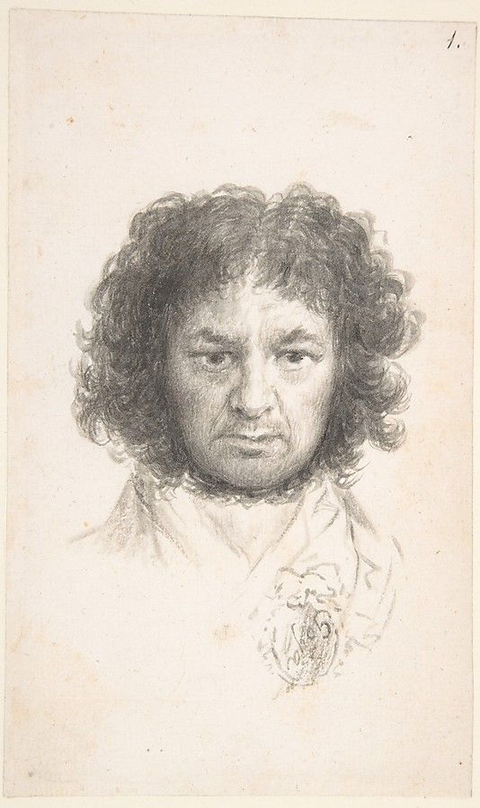 Francisco Goya's self-portrait is a brush and gray wash on laid, created in 1795-97. I am inspired by this work because I like his use of shading to create contrast and texture.