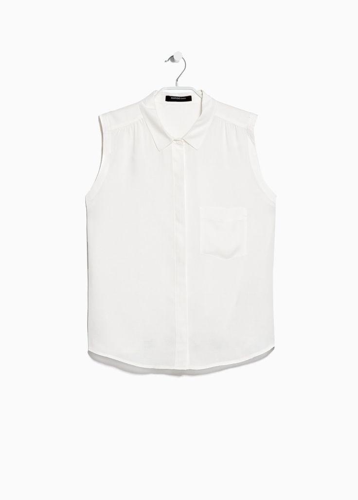Patch pocket blouse