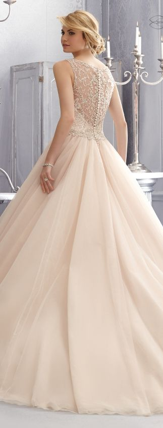 In white would be a cute wedding dress. Mori Lee by Madeline Gardner Fall 2014 | bellethemagazine.com