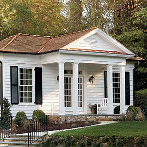 """Jennifer Kopf, """"Dream Small: Architect Russell Versaci combines timeless 19th-century details with today's building techniques for this compact Virginia retreat,"""" Southern Living (October 2012): 28-30."""