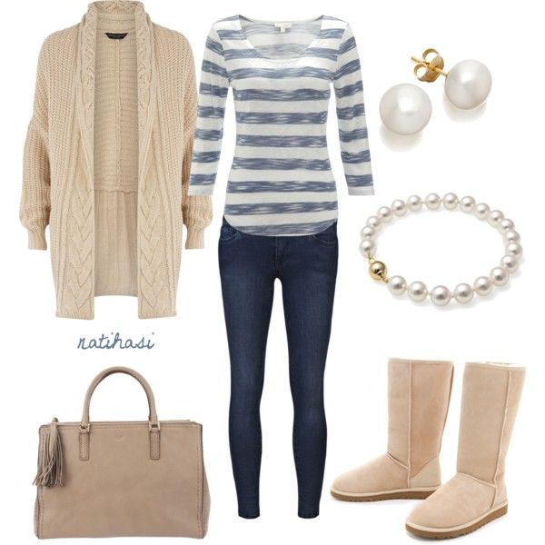 """Simple and Comfy Winter Spring Outfit"" by natihasi on Polyvore"