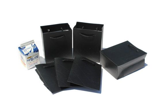 10 pcs 4x5x2.5inch / 11x14x6.5Cm / Black Color / Mini by EnGREEN