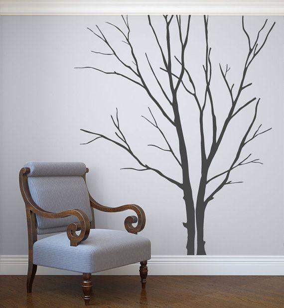 Wall decals for living room Winter Tree Decal Stick by DecaIisland