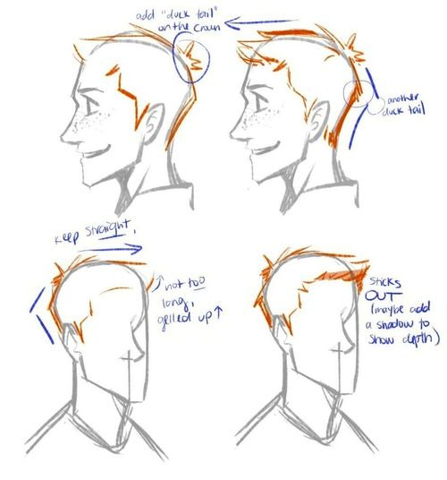 how to draw hair step by step tumblr