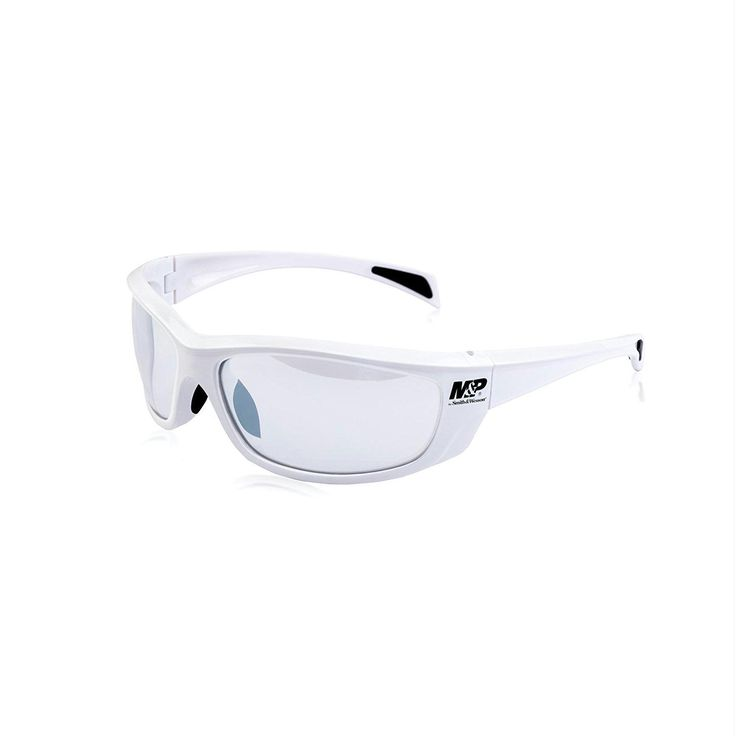 M&P Whitehawk Full Frame Shooting Glasses White-Clear