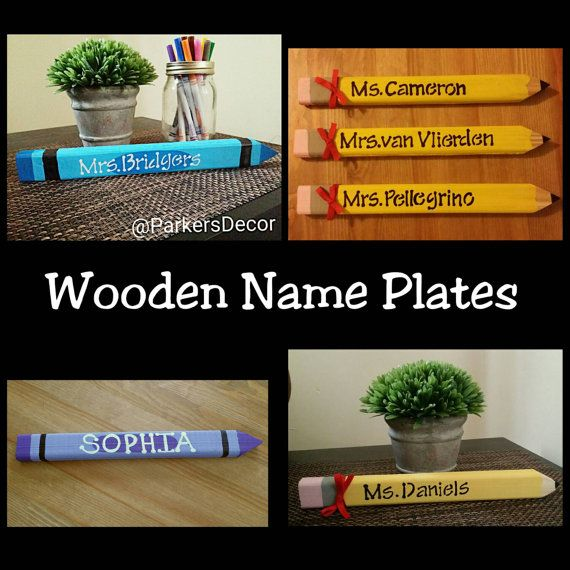 Gift for teachers-Name plate for desk-teacher by ParkersDecor