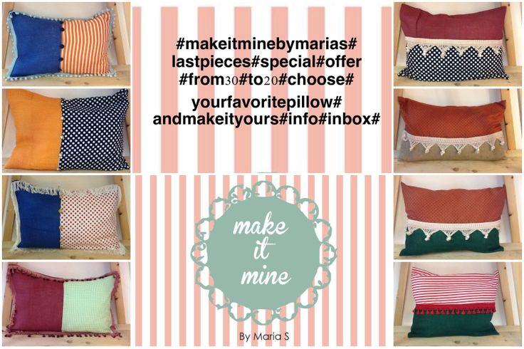 #makeitminebymarias#pillows#lastpieces#makeityours#from30#to20#