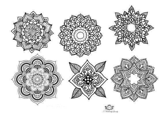 Mandala temporary tattoo set, Boho tattoos Festival tattoo, Body Art, Festival tattoos, WickedlyLovely Skin Art includes 6 tattoos