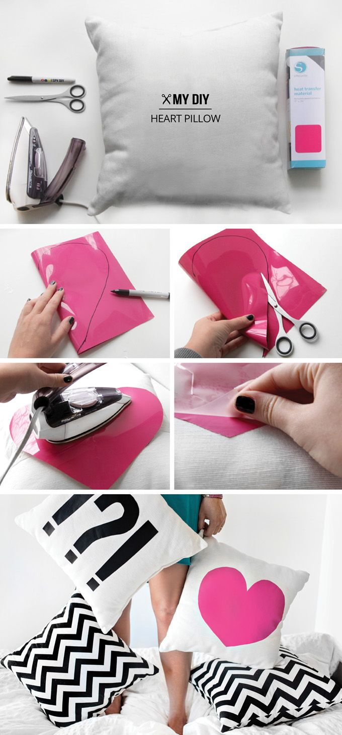 Make This Today ༺♥༻ Graphic Heart & Punctuation Pillow