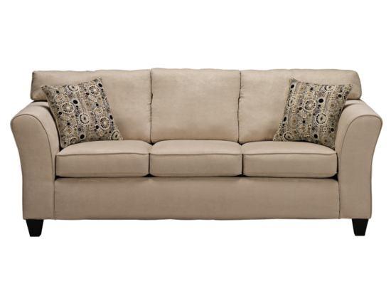 Dazzle Cream Sofa - American Signature Furniture