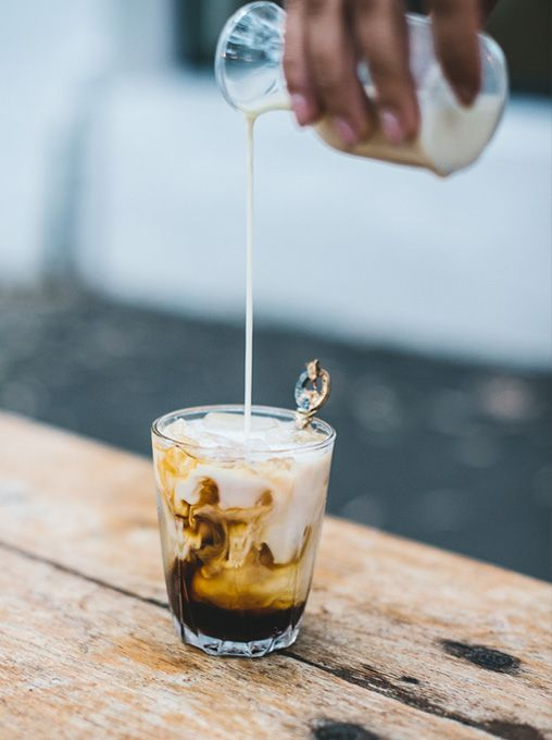 Spiced Iced Coffee 45ml Mr Black coffee liqueur 15ml spiced rum 10ml simple syrup 60ml milk