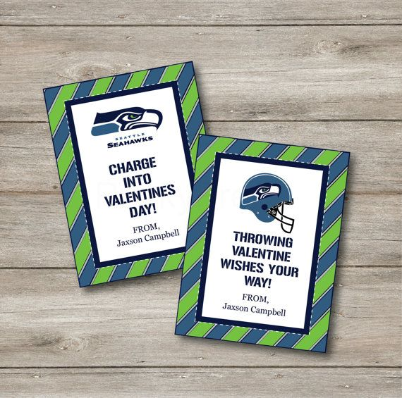 Seattle seahawks valentines personalized kids by punkyprep for Valentines day ideas seattle