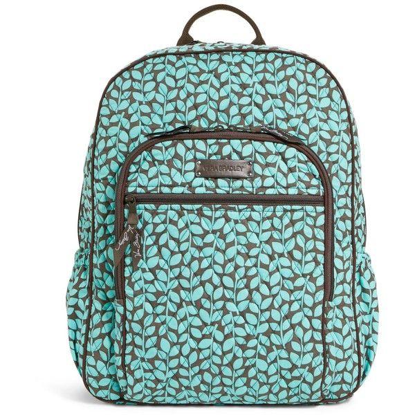 Vera Bradley Campus Backpack in Shower Vines ($49) ❤ liked on Polyvore featuring backpacks, sale ve shower vines