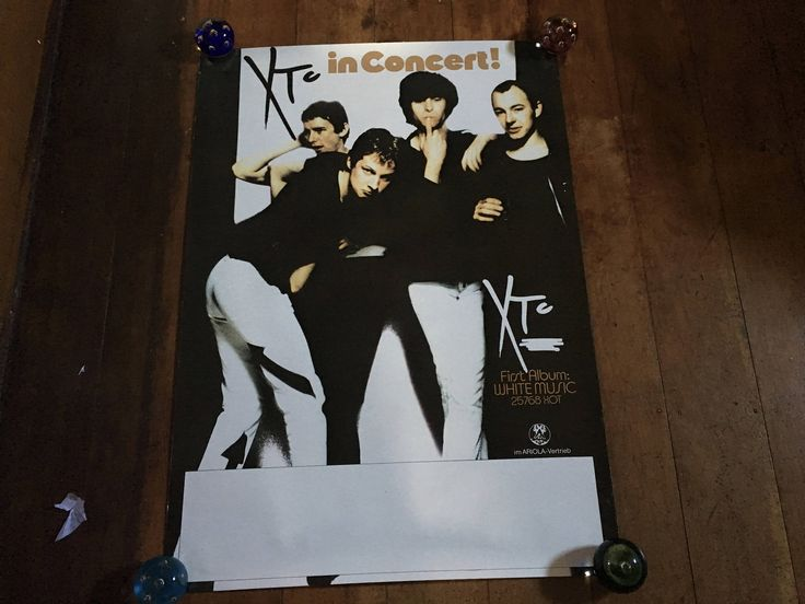 XTC White Music In Concert  1978 Virgin Records - Ariola Orignal Rare Vintage Music Poster by RockPostersTreasures on Etsy