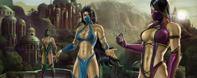 Jade, Kitana and Mileena