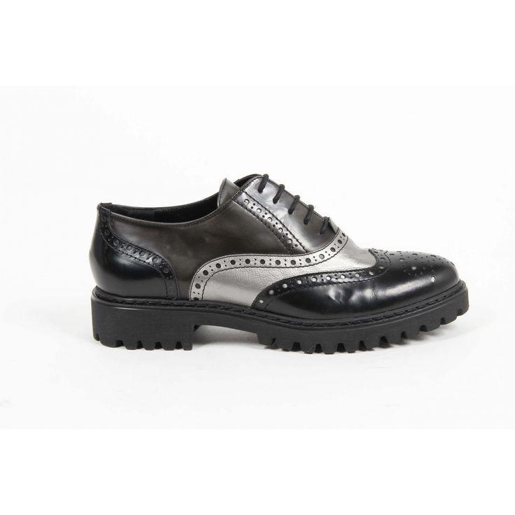 Versace 19.69 Abbigliamento Sportivo Srl Milano Italia Womens Oxford Shoe 5135 ABRASIVATO NERO