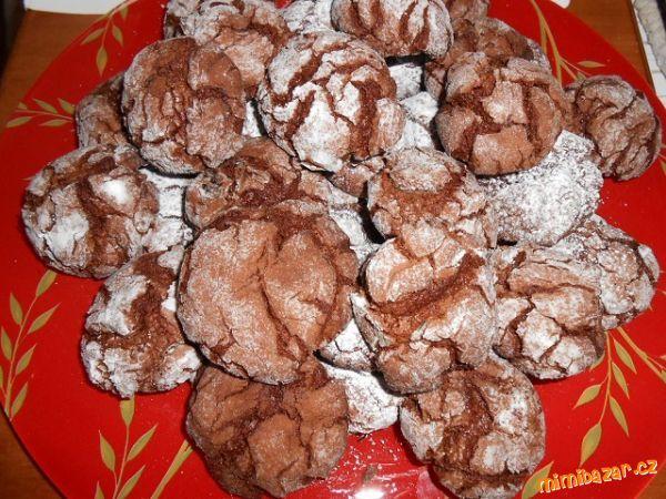 Popraskané čokoládové sušenky nejlepší jaké jsem jedla