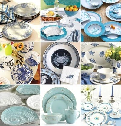 Beach Dinnerware Sets u0026 Table Decor Accessories  sc 1 st  Pinterest & 40 best Coastal dinnerware images on Pinterest | Cooking ware Beach ...